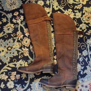 """JC """"Zipped"""" fold over distressed otk boots"""